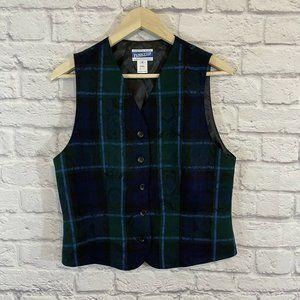 Vintage Pendleton Size 8 Button Vest Top Wool
